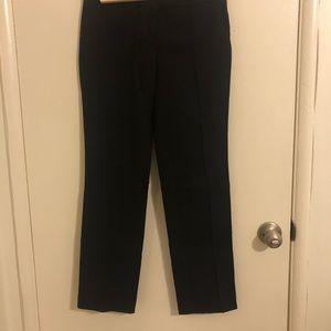 Black Straight Cut Trousers
